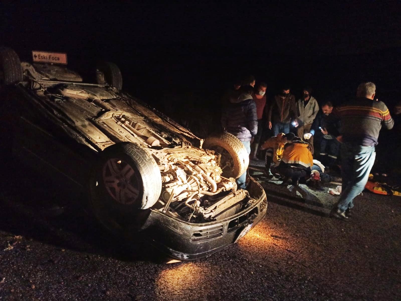 Foça'nın eski Belediye Başkanı Gökhan Demirağ trafik kazası geçirdi