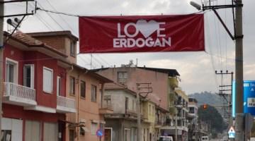 Koçarlı 'Love Erdoğan Pankartlarıyla Donatıldı