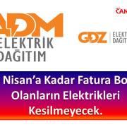 Borçlu Abonelerin Elektriği 30 Nisana Kadar Kesilmeyecek