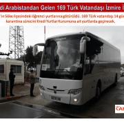 Suudi Arabistandan Gelen 169 Türk Vatandaşı İzmire İndi