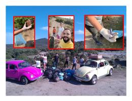 Urla Barbaros Köyünde kamp ve doğadan çöp toplama etkinliği yapıldı