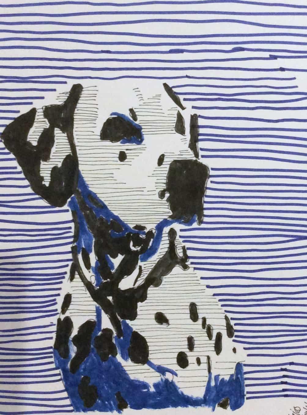 Dalmatiner in Pop Art Style