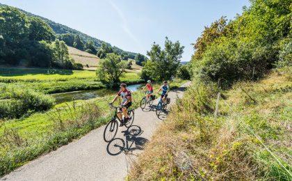 Landschaftlich ist der Kocher-Jagst-Radweg einer der schönsten Radwege in Deutschland.