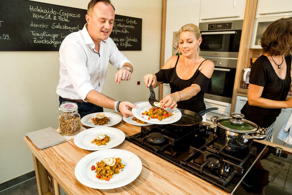 Bio-Zutaten spielen auch die Hauptrolle bei den Kochevents von Yvonne Liebl.