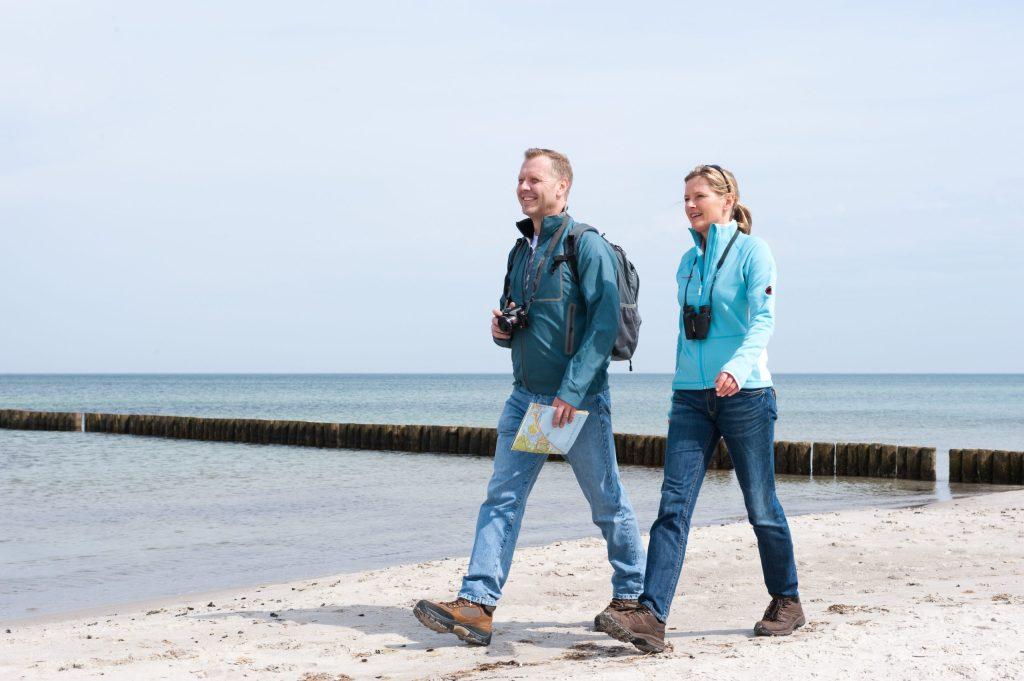 Unterwegs an der frischen, sauberen Luft - die Lage zwischen Wald und Meer macht Graal-Müritz zu einem besonderen Seeheilbad.