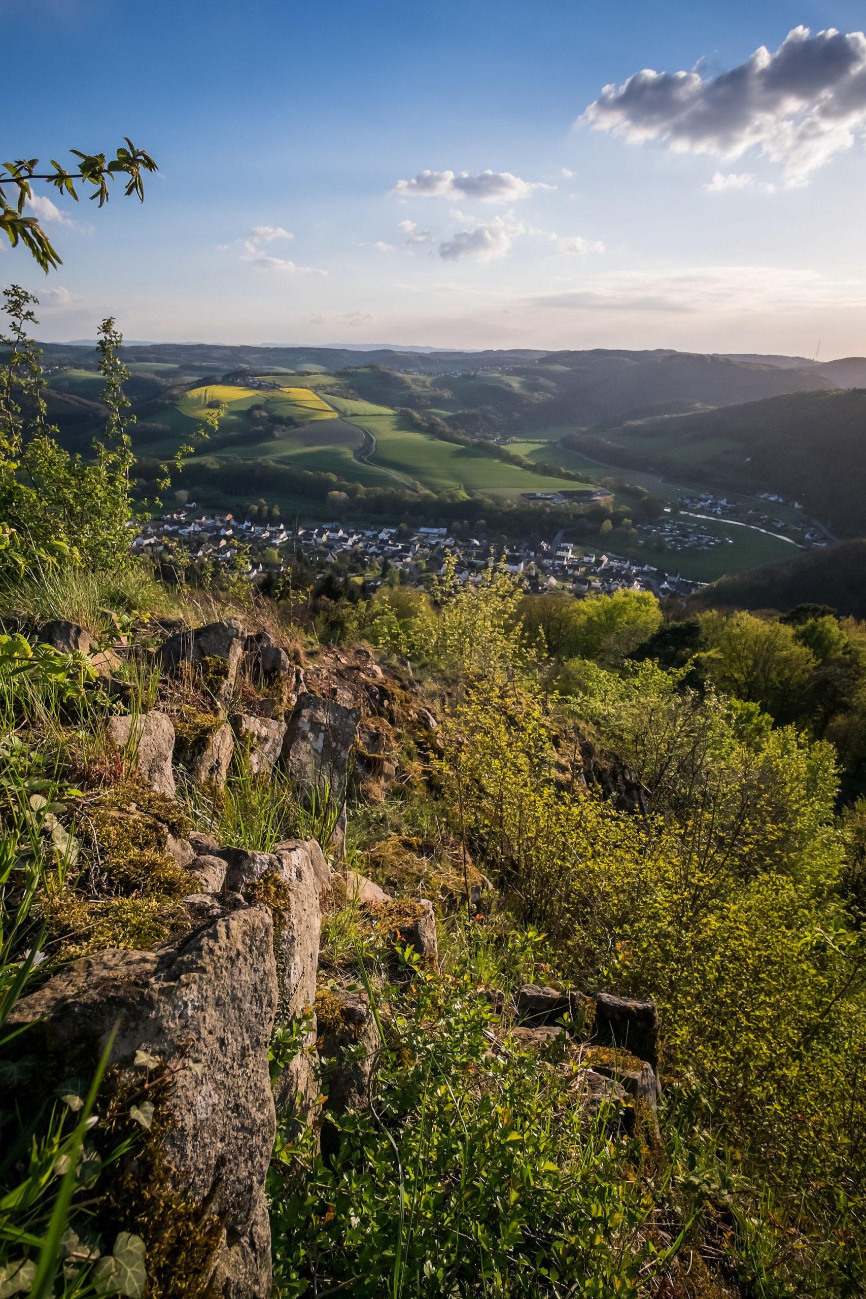 Die Höhen des Westerwalds und das Wiedtal