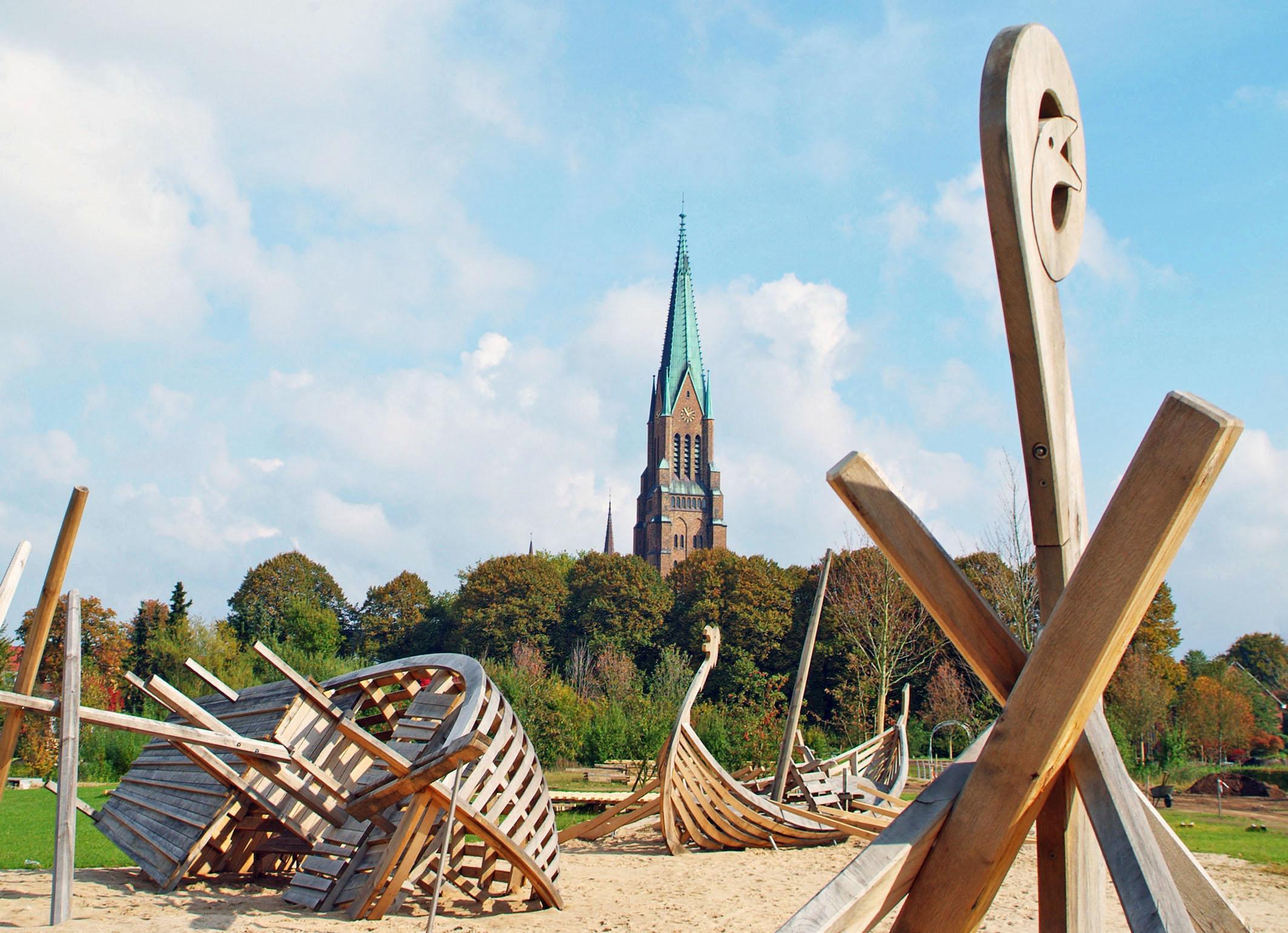 Sankt Petri Dom in Schleswig am Ostseefjord Schlei