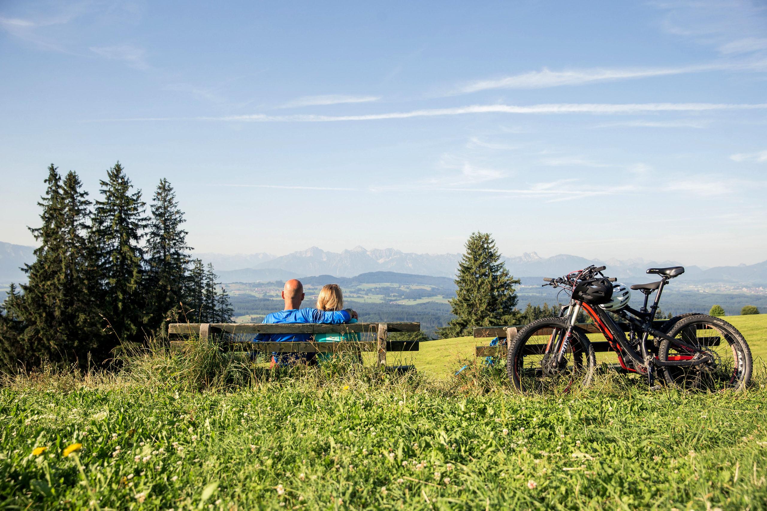Aussicht in Oberbayern