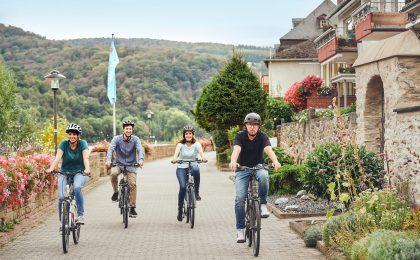 Radtour-Hopping am Rhein