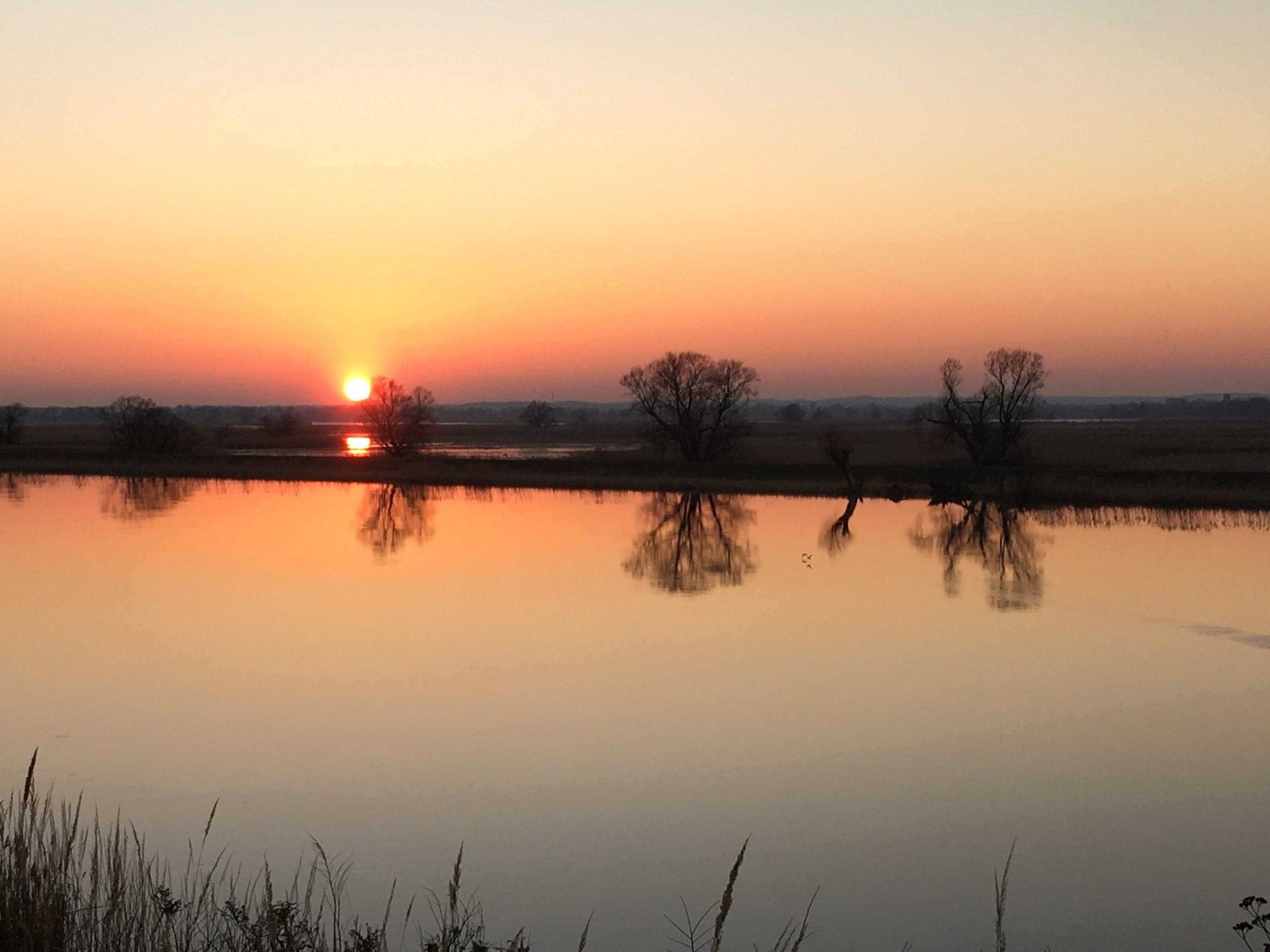 See in der Uckermark im Abendlicht