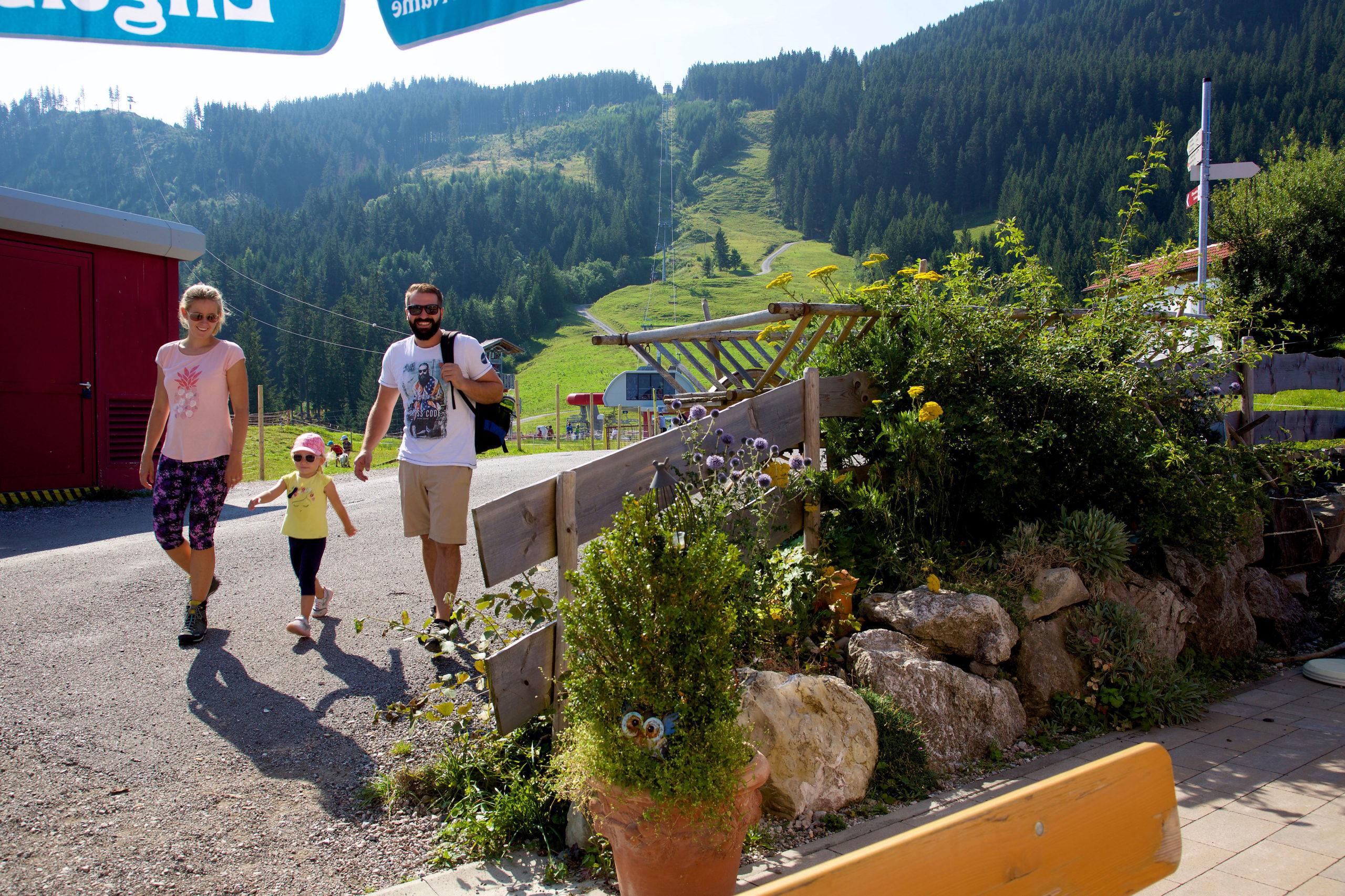 Bergwanderung beim Familienurlaub im Allgäu