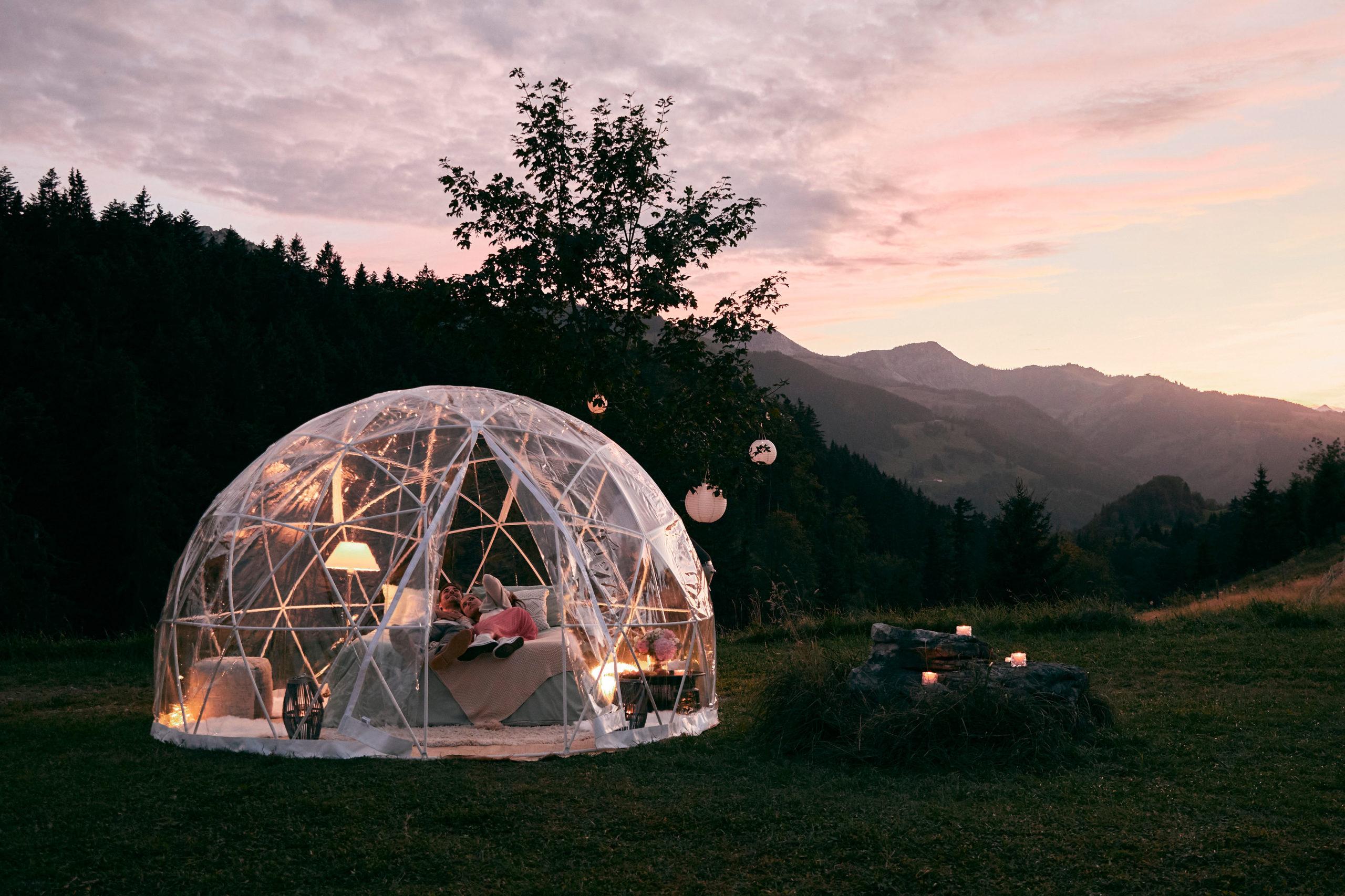 Von Bubble-Hotel bis Candle-Light-Dinner