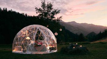 Übernachtung im Bubble-Hotel als eines der Erlebnisgeschenke