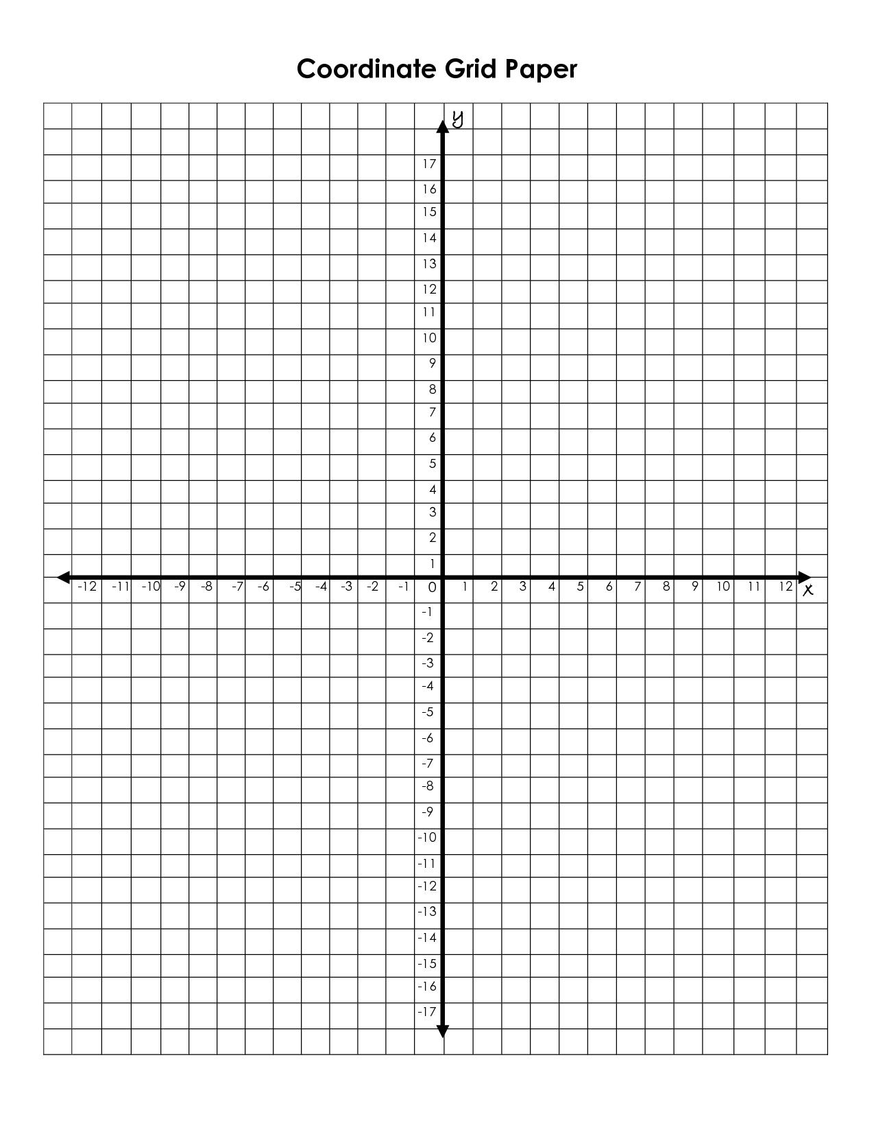 Printable Coordinate Grid