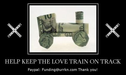 Fundraiser dollar train