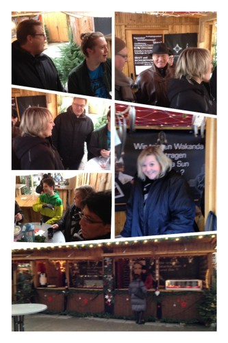 Weihnachtsmarkt mit der Familie