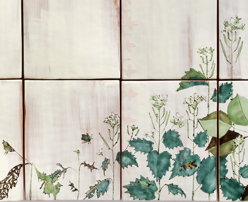 Detail, Panel 2, Wallflower (Invasive Species)