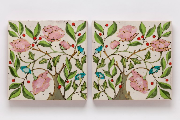 Diptych (Homage to May Morris)