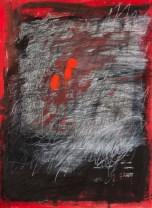"""Evidence"" Gouache, ink, Conté crayon on Arches 76 x 57cm"