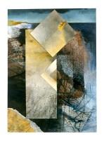 Ursula Kolbe 1990-1999 Watercolour Collages 'Lisbon Memory I'. Watercolour on paper