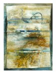Ursula Kolbe 1990-1999 Watercolour Collages 'Threads I'. Watercolour on paper