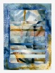 Ursula Kolbe 1990-1999 Watercolour Collages 'Threads III'. Watercolour on paper