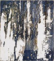 Ursula Kolbe 2007 'Enigma I'. Beeswax, oil, oil stick on board 34x30cm