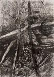 """Into a Labyrinthian World"" Gouache, ink on Arches 21cm x 14cm"