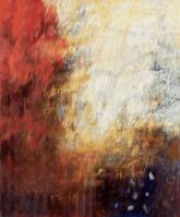 Ursula Kolbe 'Desiderata I'. Oil and oil stick on canvas 120x100cm