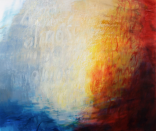 Ursula Kolbe 'Almost (in a Tango Moment)'. Oil and oil stick on canvas 152x180cm