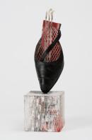Ursula Kolbe 'Mi Noche Triste III (My Sad Night)'. Found materials, mixed media 29x9x9cm