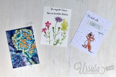 (Deutsch) Amazing postcard mail art from postcard swap 2015 hosted by Ursula Markgraf www.UrsulaMarkgraf.com #handmadepostcards #postcardswap