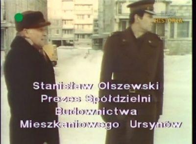 Prezes Spółdzielni Ursynów tłumaczy się przed wojskowym komisarzem z marnych efektów odśnieżania. Kadr z DTV, 20.12.1981