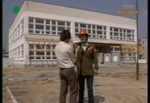 Kończy się wizyta ekipy TVP na placu budowy wznoszonego radziecką ręką przedszkola Na Uboczu.