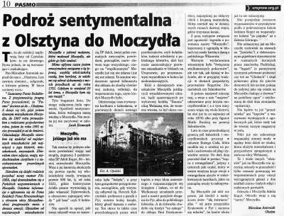 """Wspomnieniowy list do redakcji """"Pasma"""" Mirosława Antoniaka."""