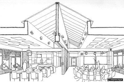 """Futurystyczne rozwiązanie sal w szkole ponadpodstawowej. """"Architektura"""", 1975"""