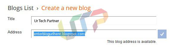 Create a New Blog on Blogger.com
