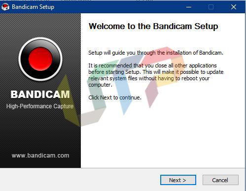 Install Bandicam