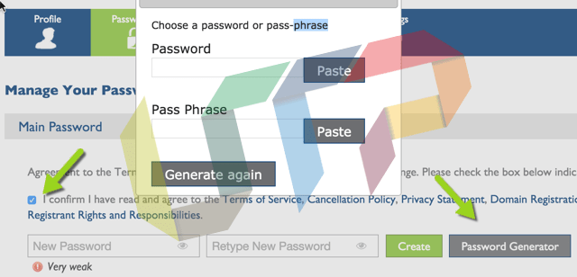 Hosting Password Generator