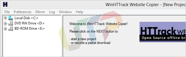 Download Website for Offline Use with HTTrack