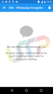 Shh WhatsApp Incognito - Read WhatsApp Messages without Opening App