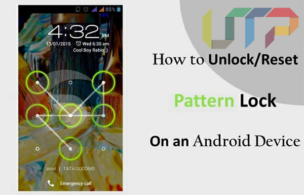 how to unlock android pattern lock without losing data