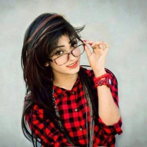 Cute Stylish Girl with Spacks DP