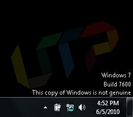 Windows 7 not genuine