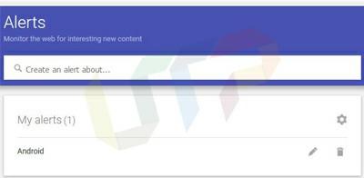 Create Google Alert