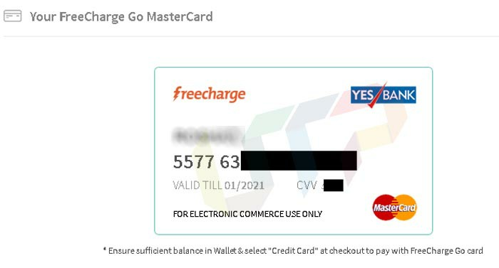 Create Virtual Credit Card