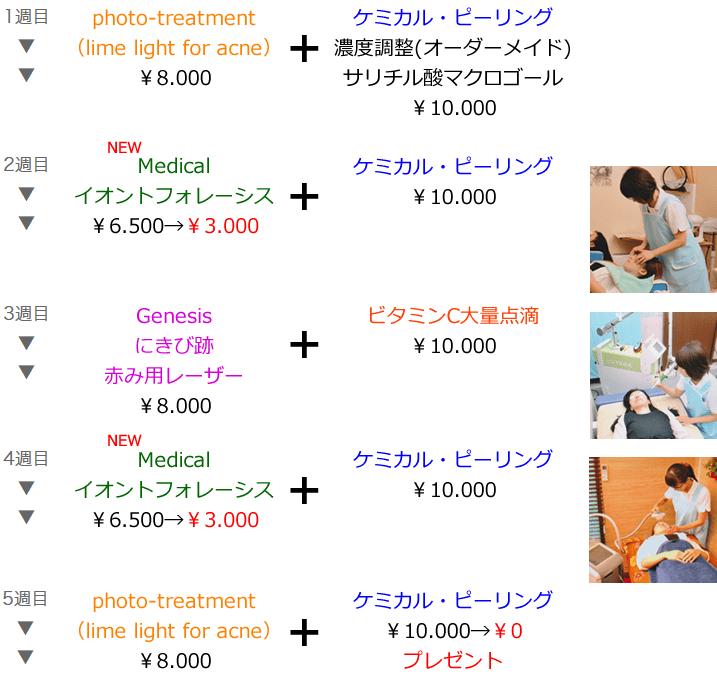 <顔面>5週間コース