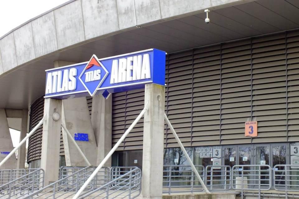 wejście do atlas areny w Łodzi