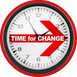 zegar odmierzający czas na zmiany
