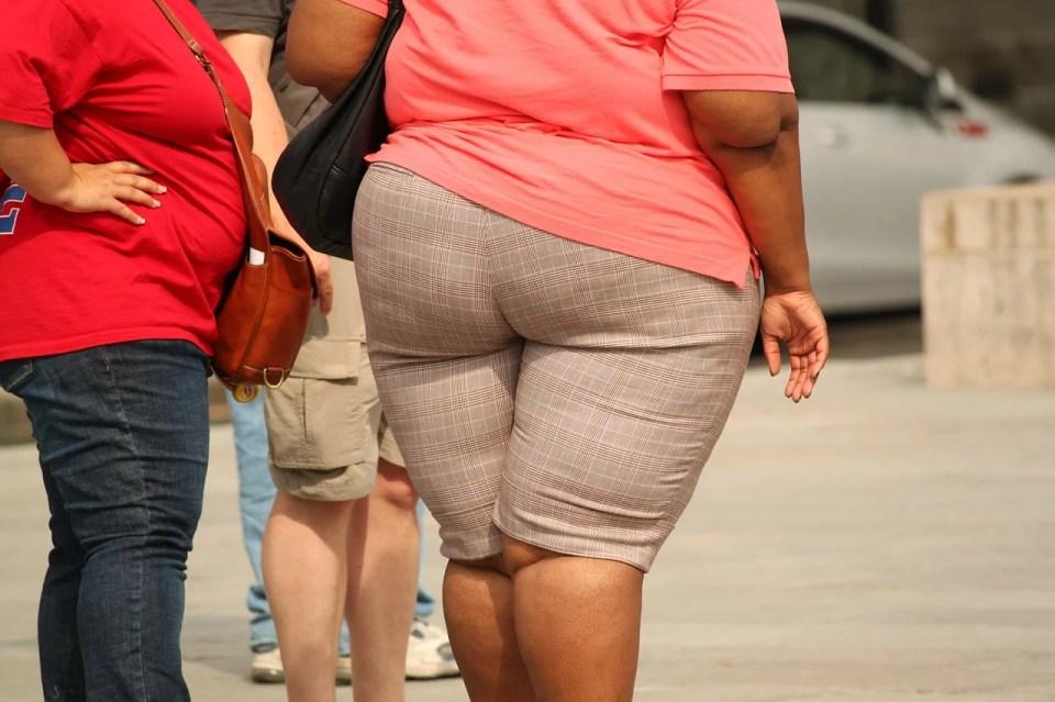 otyłem osoby stoją w bezruchu